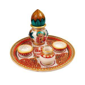 marble-puja-thali-with-kalash