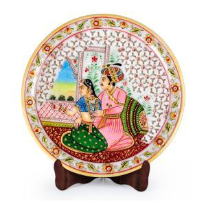 mugal-painted-marble-plate