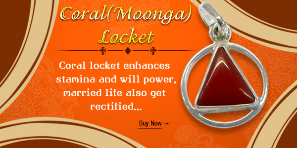 Coral Moonga Locket