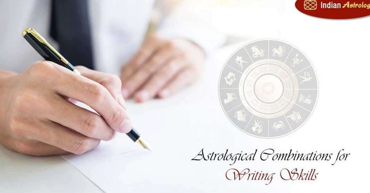 Astrological combinations for Writing Skills